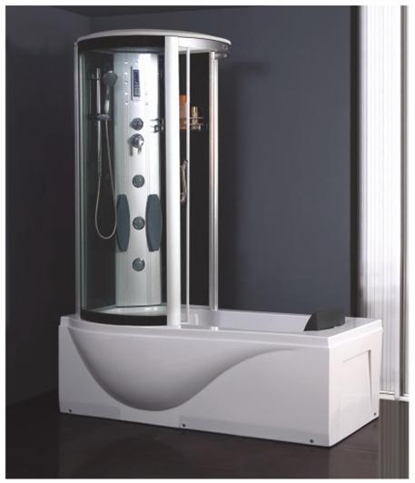 Masážní a sprchový box TIFFANY a vanou 1500x900 Levá