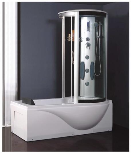 Masážní a sprchový box TIFFANY a vanou 1700x900 Pravá